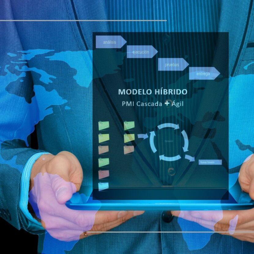 Gestión de proyectos, Cascada, ágil, Gestión Híbrida, PMI