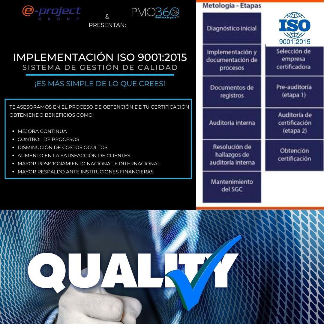 NORMA ISO 9001, Gestión de calidad, Procesos,